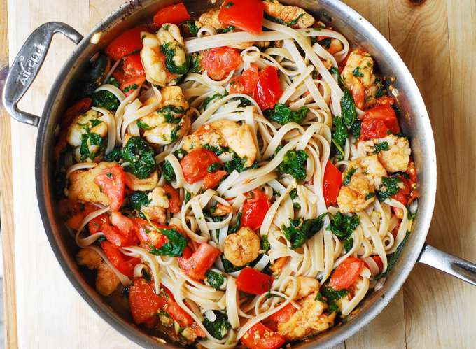 pasta-with-shrimp-spinach-recipe
